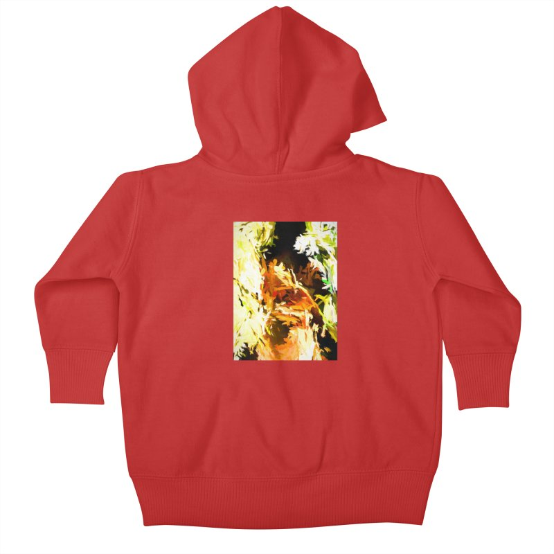 Self Portrait with the White Flower Kids Baby Zip-Up Hoody by jackievano's Artist Shop