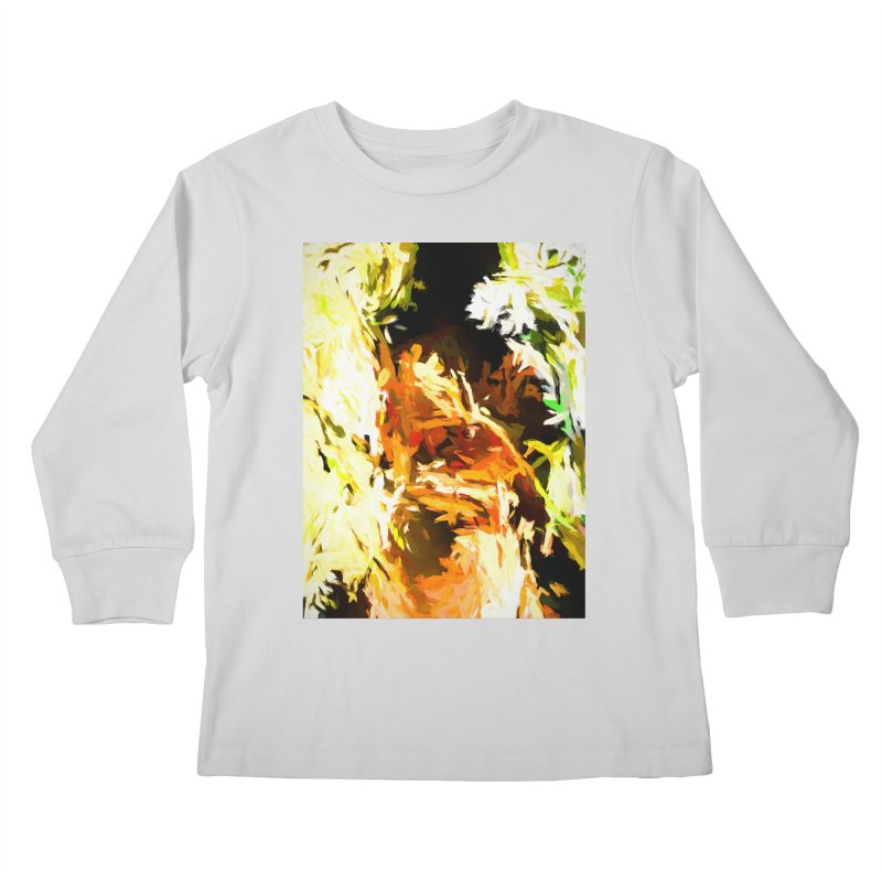 Self Portrait with the White Flower Kids Longsleeve T-Shirt by jackievano's Artist Shop