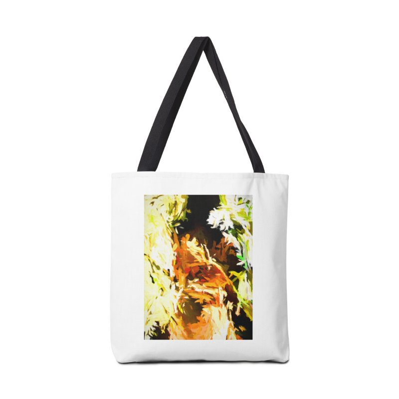 Self Portrait with the White Flower Accessories Tote Bag Bag by jackievano's Artist Shop