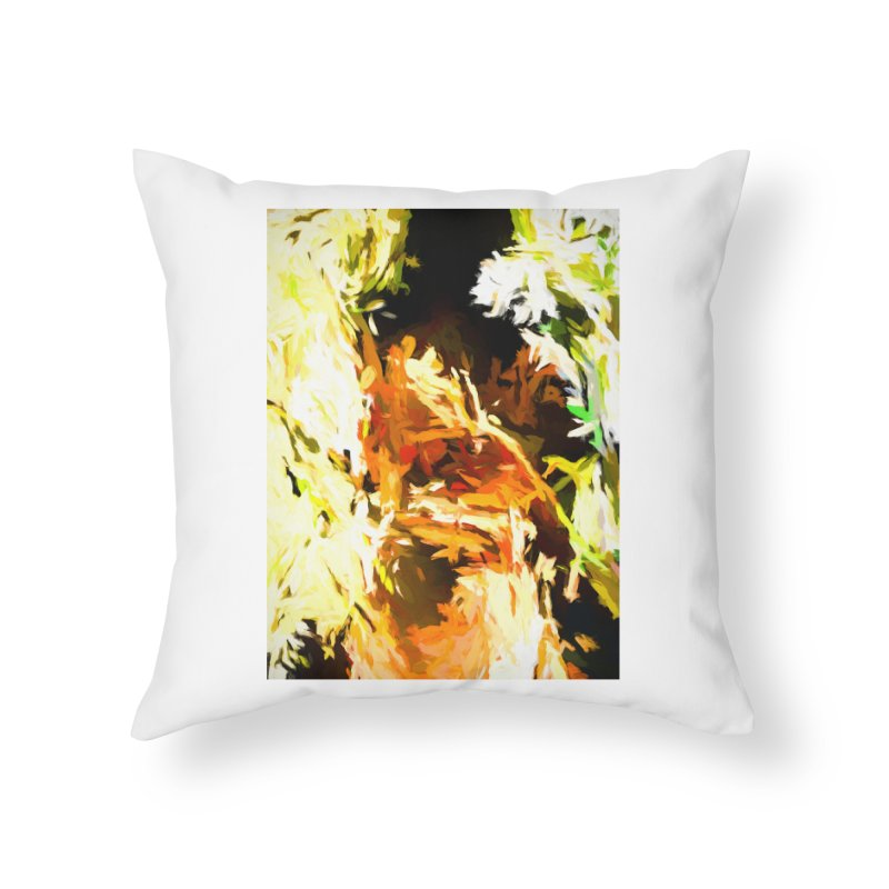 Self Portrait with the White Flower Home Throw Pillow by jackievano's Artist Shop