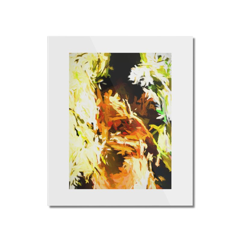 Self Portrait with the White Flower Home Mounted Acrylic Print by jackievano's Artist Shop