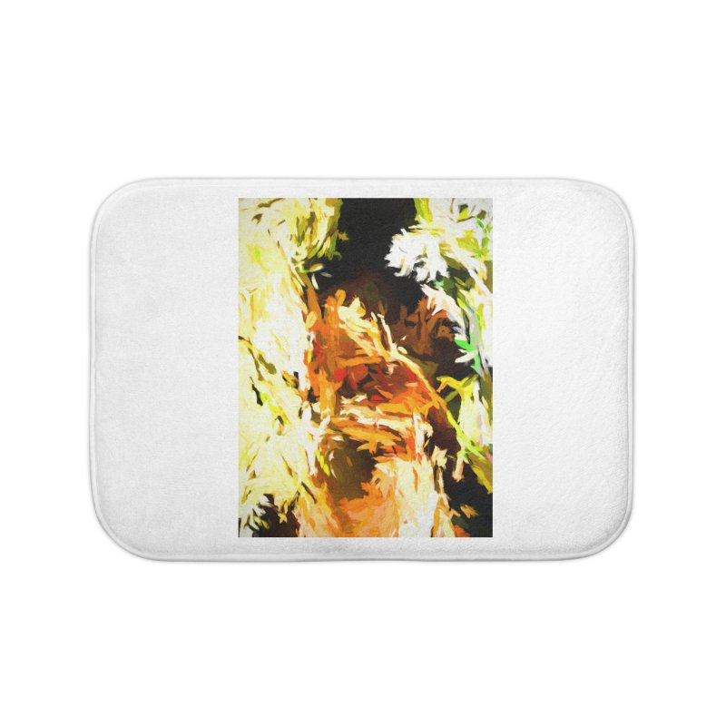 Self Portrait with the White Flower Home Bath Mat by jackievano's Artist Shop