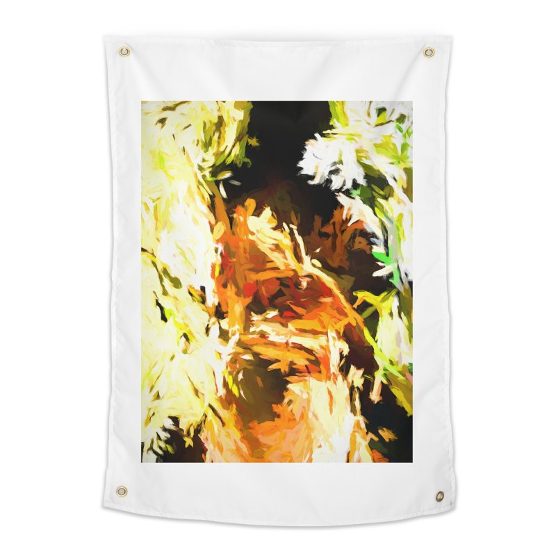 Self Portrait with the White Flower Home Tapestry by jackievano's Artist Shop