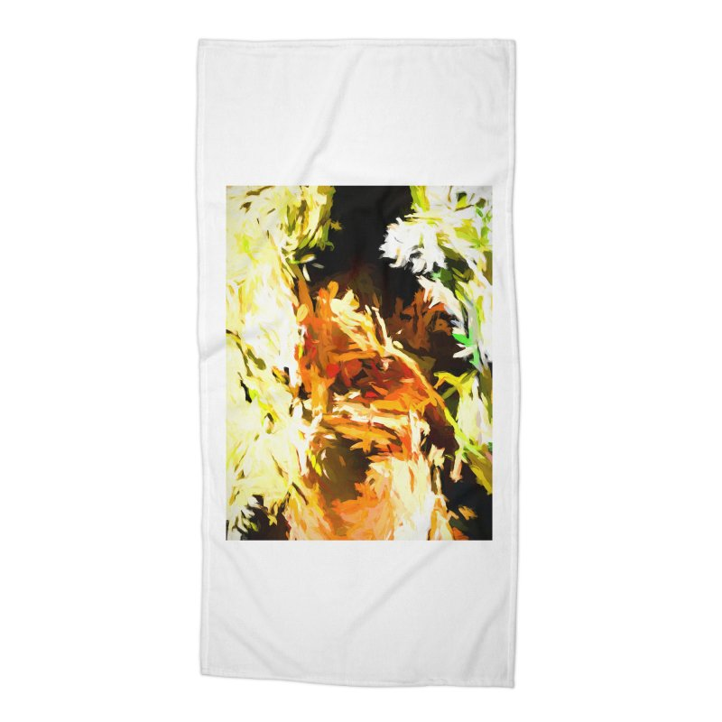 Self Portrait with the White Flower Accessories Beach Towel by jackievano's Artist Shop