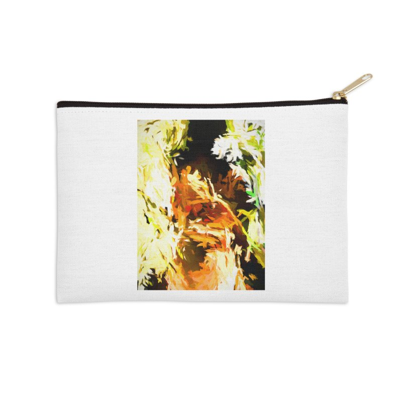 Self Portrait with the White Flower Accessories Zip Pouch by jackievano's Artist Shop