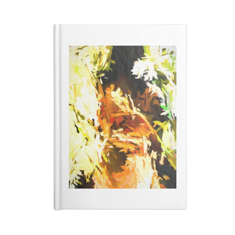 Self Portrait with the White Flower Accessories Blank Journal Notebook by jackievano's Artist Shop