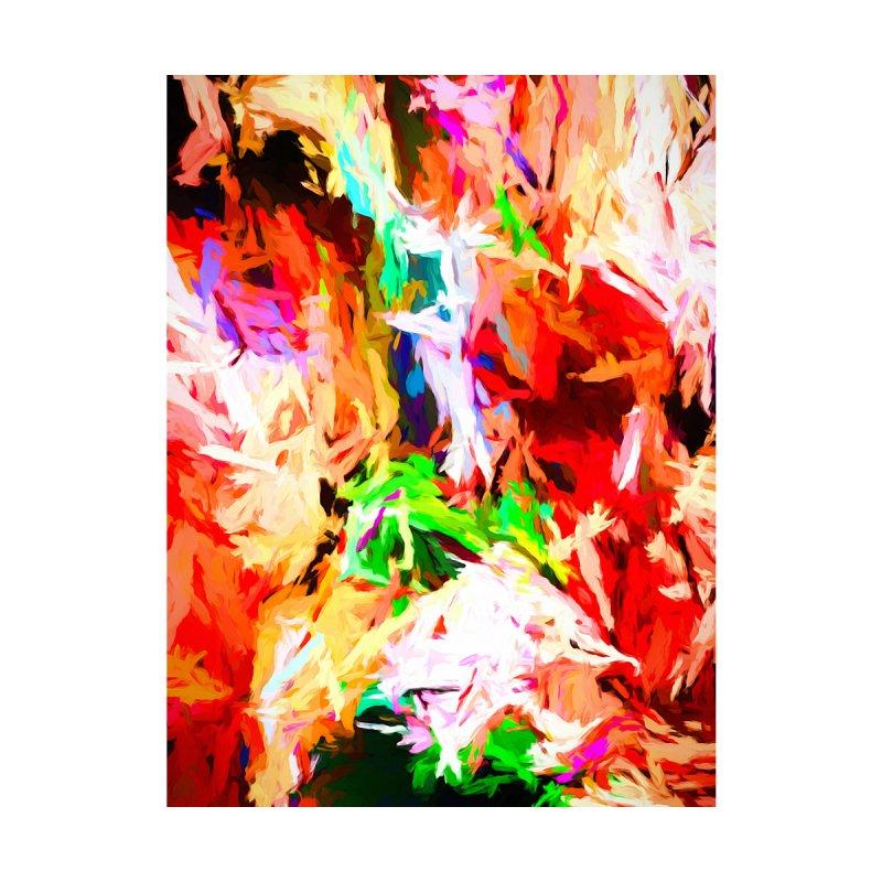 Orange Fire with the Blue Teardrops by jackievano's Artist Shop