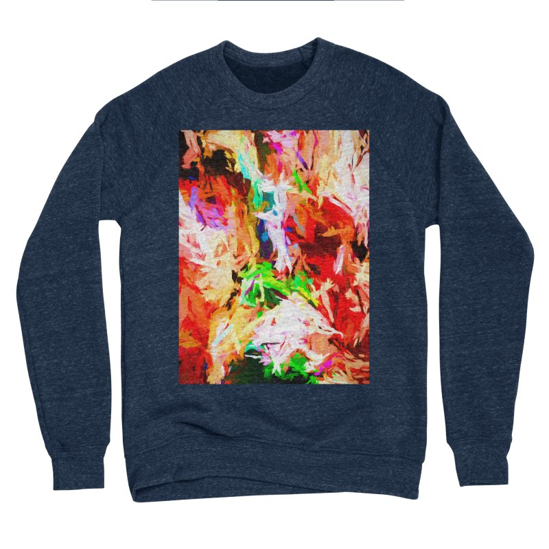 Orange Fire with the Blue Teardrops Men's Sponge Fleece Sweatshirt by jackievano's Artist Shop