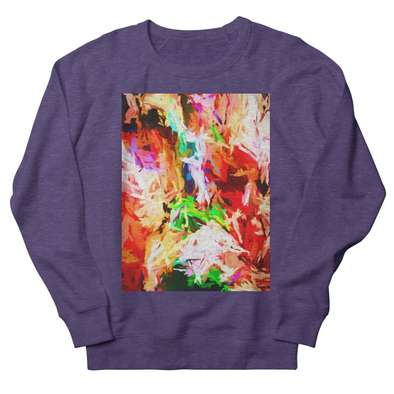 Orange Fire with the Blue Teardrops Women's French Terry Sweatshirt by jackievano's Artist Shop