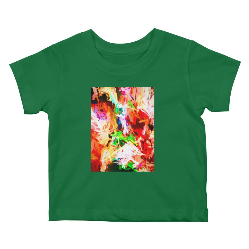 Orange Fire with the Blue Teardrops Kids Baby T-Shirt by jackievano's Artist Shop