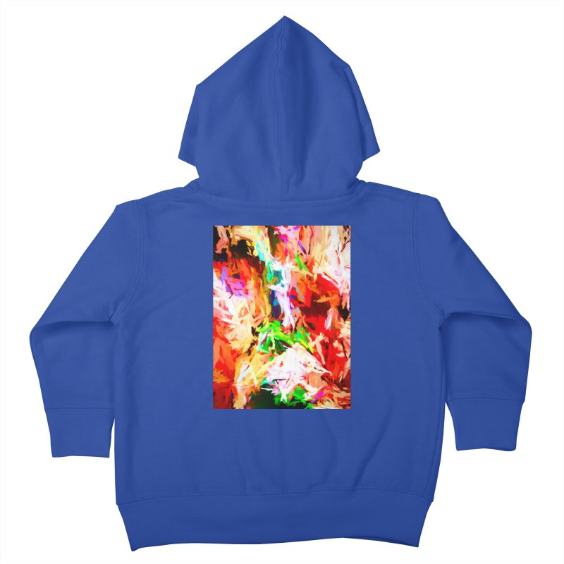 Orange Fire with the Blue Teardrops Kids Toddler Zip-Up Hoody by jackievano's Artist Shop