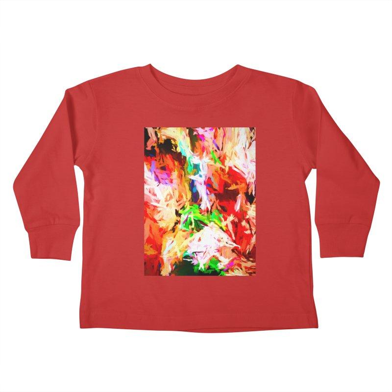 Orange Fire with the Blue Teardrops Kids Toddler Longsleeve T-Shirt by jackievano's Artist Shop