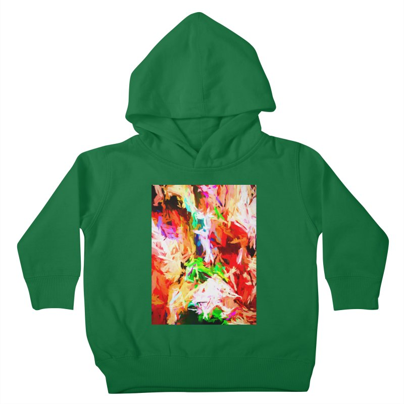 Orange Fire with the Blue Teardrops Kids Toddler Pullover Hoody by jackievano's Artist Shop