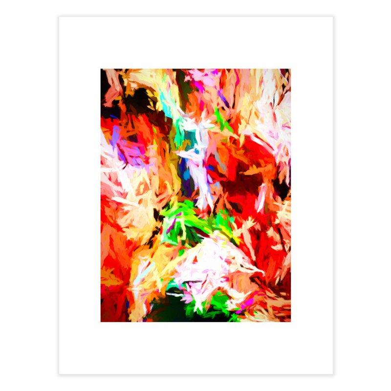 Orange Fire with the Blue Teardrops Home Fine Art Print by jackievano's Artist Shop