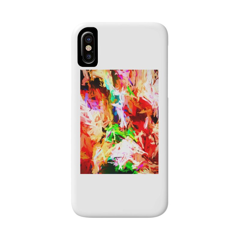 Orange Fire with the Blue Teardrops Accessories Phone Case by jackievano's Artist Shop