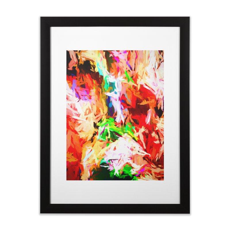 Orange Fire with the Blue Teardrops Home Framed Fine Art Print by jackievano's Artist Shop