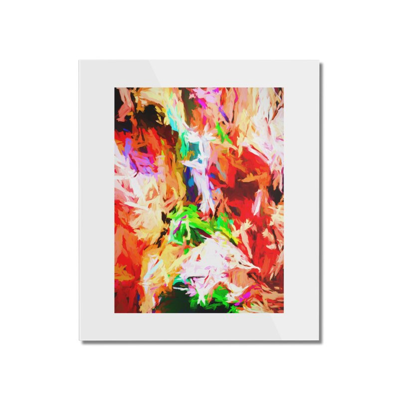 Orange Fire with the Blue Teardrops Home Mounted Acrylic Print by jackievano's Artist Shop