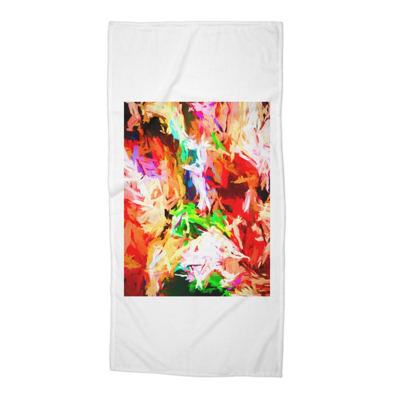 Orange Fire with the Blue Teardrops Accessories Beach Towel by jackievano's Artist Shop