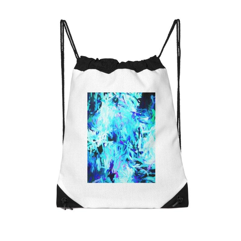Gargoyle Tsunami Pour Accessories Drawstring Bag Bag by jackievano's Artist Shop