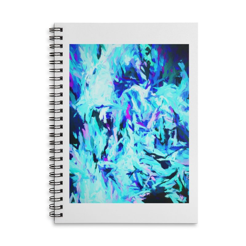 Gargoyle Tsunami Charge Accessories Lined Spiral Notebook by jackievano's Artist Shop