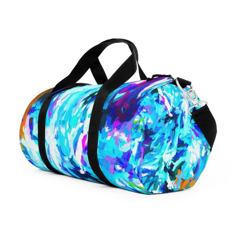 Gargoyle Tsunami Roar Accessories Duffel Bag Bag by jackievano's Artist Shop