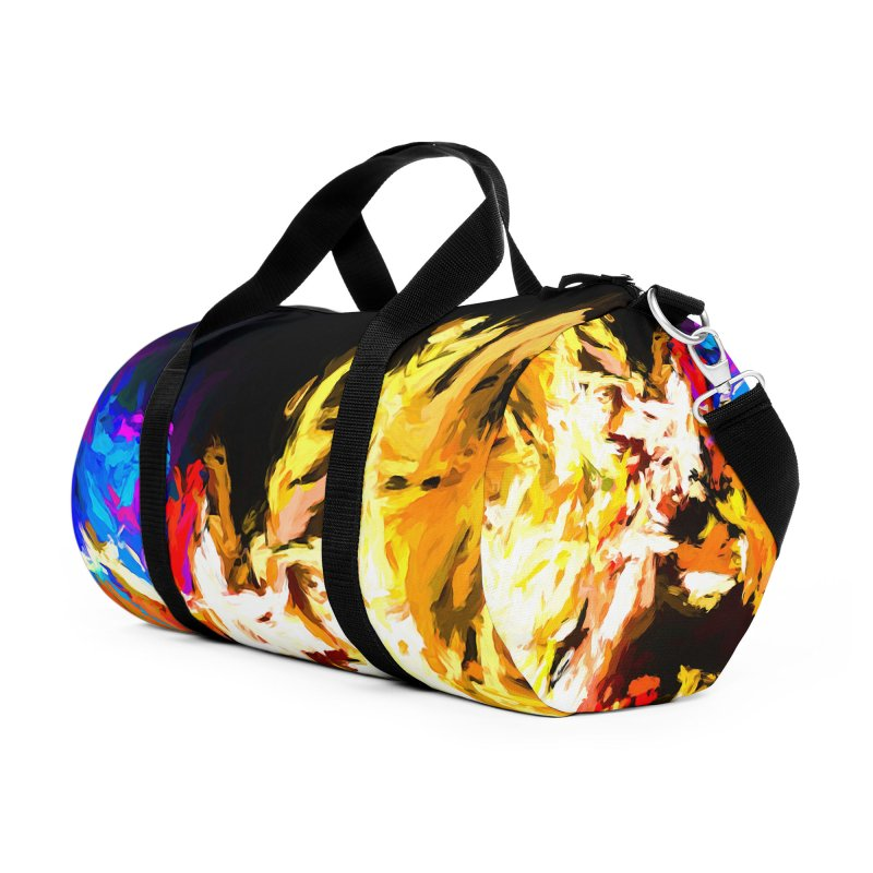 Man with the Talking Mouth Accessories Duffel Bag Bag by jackievano's Artist Shop