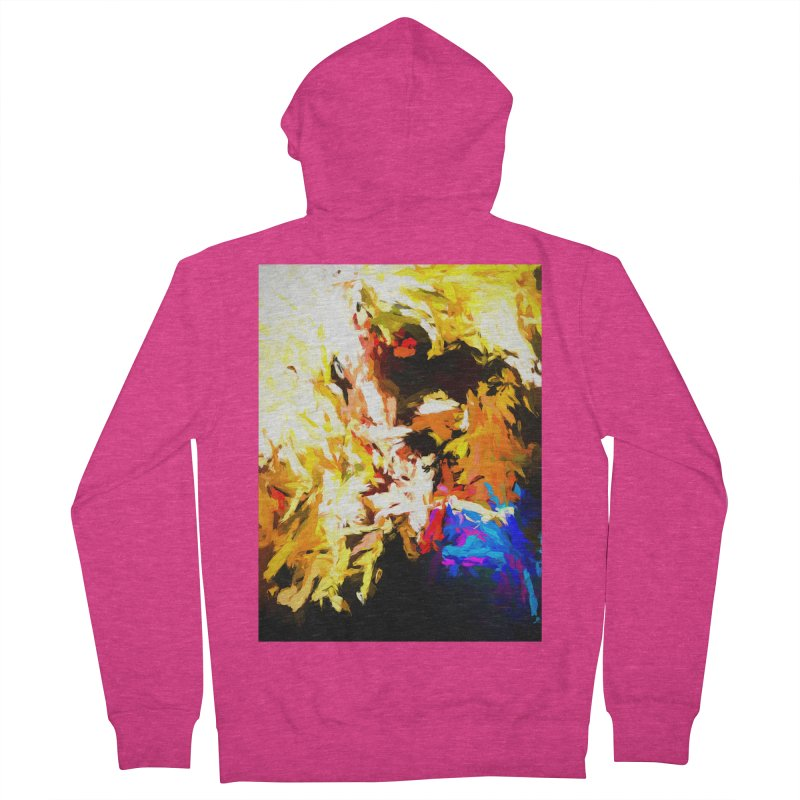 Man with the Talking Mouth Women's French Terry Zip-Up Hoody by jackievano's Artist Shop