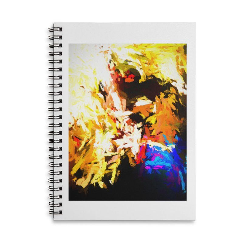 Man with the Talking Mouth Accessories Lined Spiral Notebook by jackievano's Artist Shop