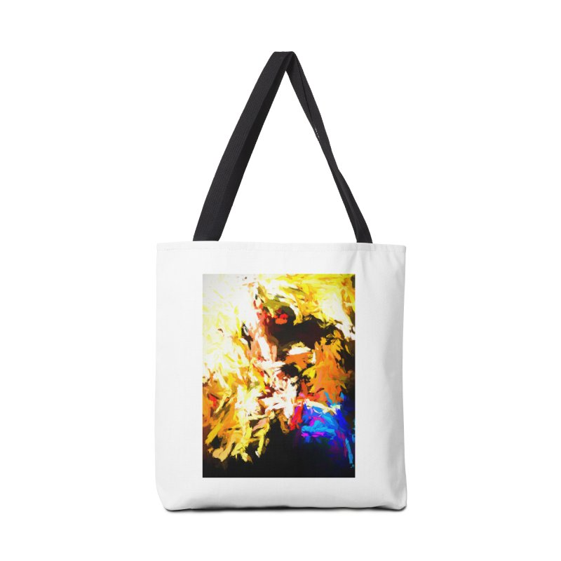 Man with the Talking Mouth Accessories Tote Bag Bag by jackievano's Artist Shop