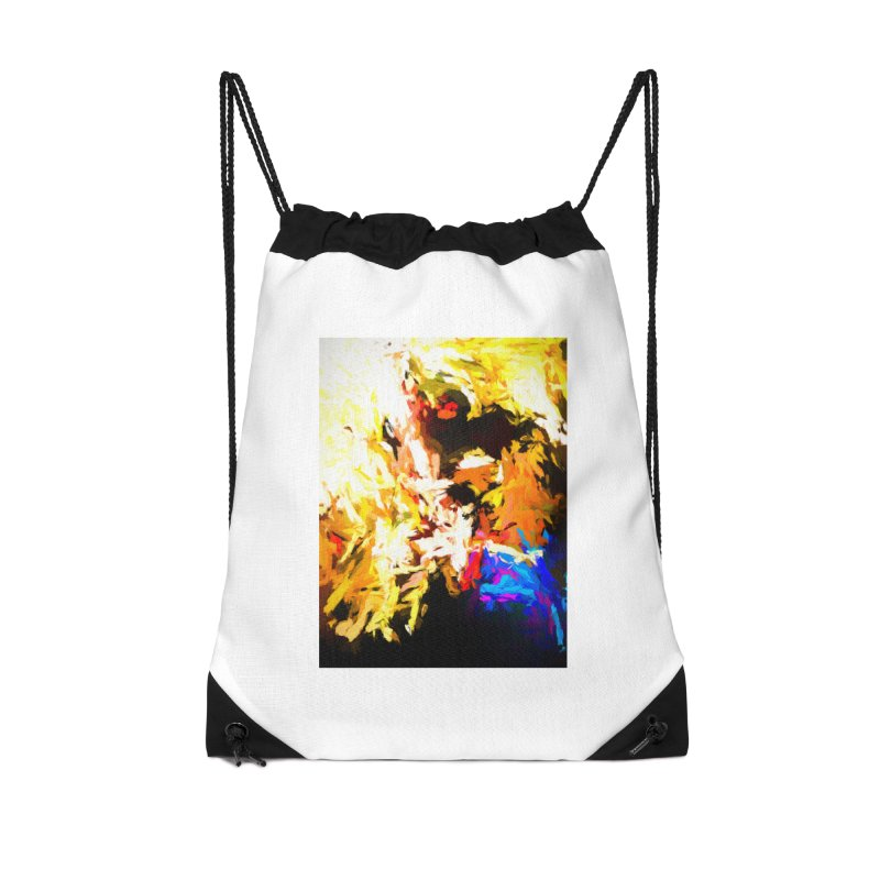Man with the Talking Mouth Accessories Drawstring Bag Bag by jackievano's Artist Shop