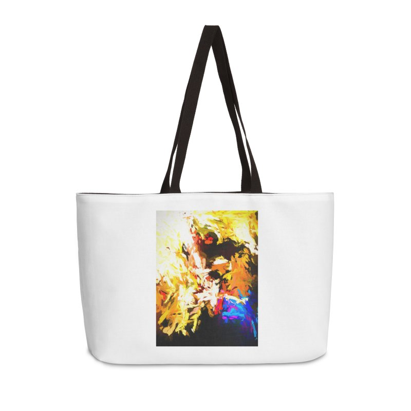 Man with the Talking Mouth Accessories Weekender Bag Bag by jackievano's Artist Shop