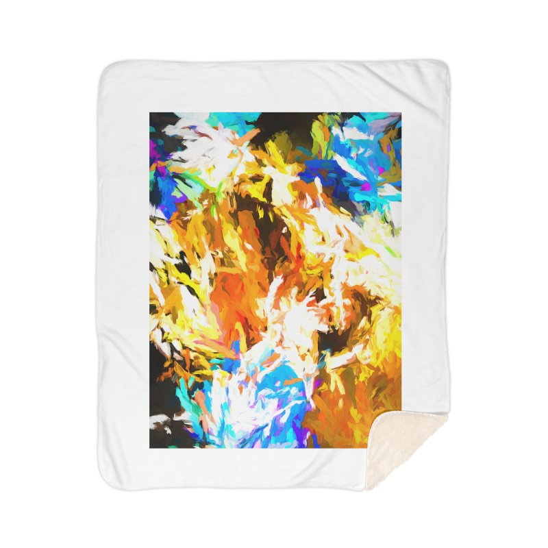 Tsunami from the Lion's Mouth Home Sherpa Blanket Blanket by jackievano's Artist Shop
