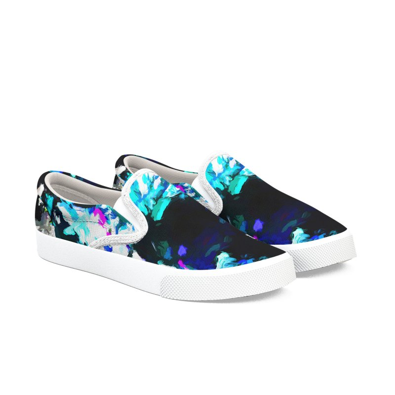 Earth's Heart Beats and the Ocean Opens Men's Slip-On Shoes by jackievano's Artist Shop