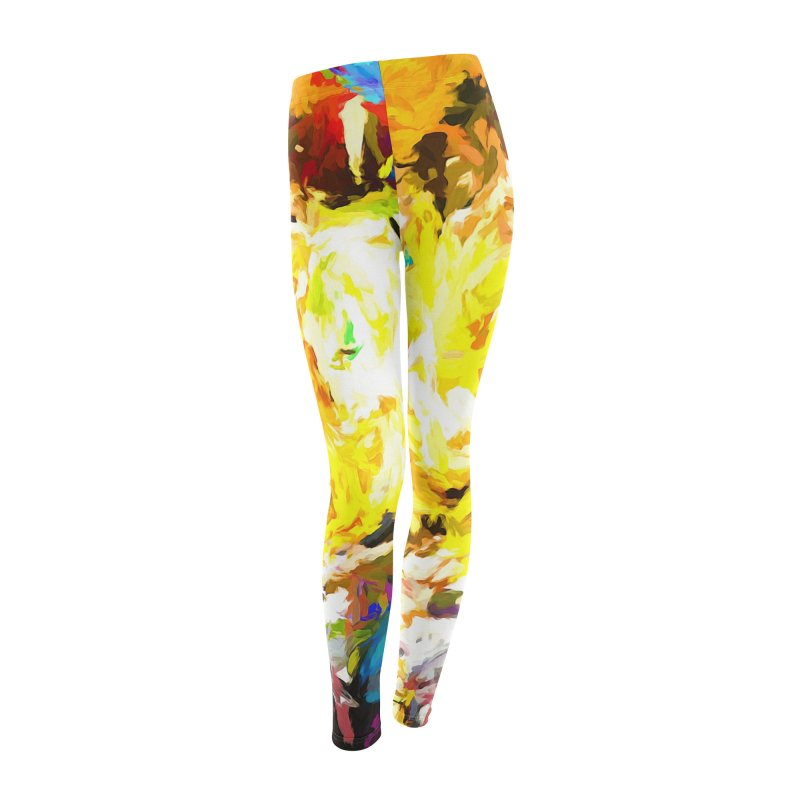Happy Clown in the Heart of the Hurricane Women's Leggings Bottoms by jackievano's Artist Shop