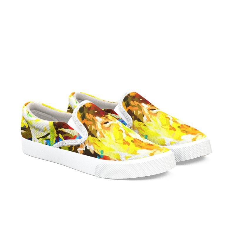 Happy Clown in the Heart of the Hurricane Men's Slip-On Shoes by jackievano's Artist Shop