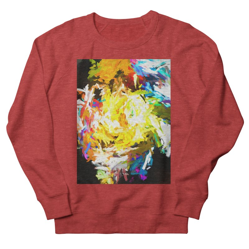Happy Clown in the Heart of the Hurricane Women's French Terry Sweatshirt by jackievano's Artist Shop