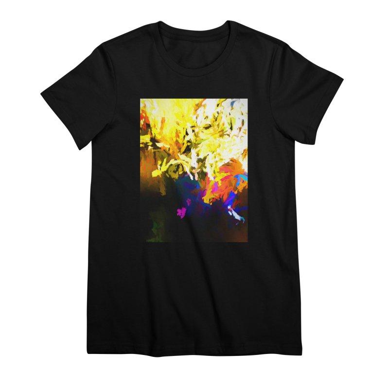 Raging Gargoyle of the Fire Women's Premium T-Shirt by jackievano's Artist Shop