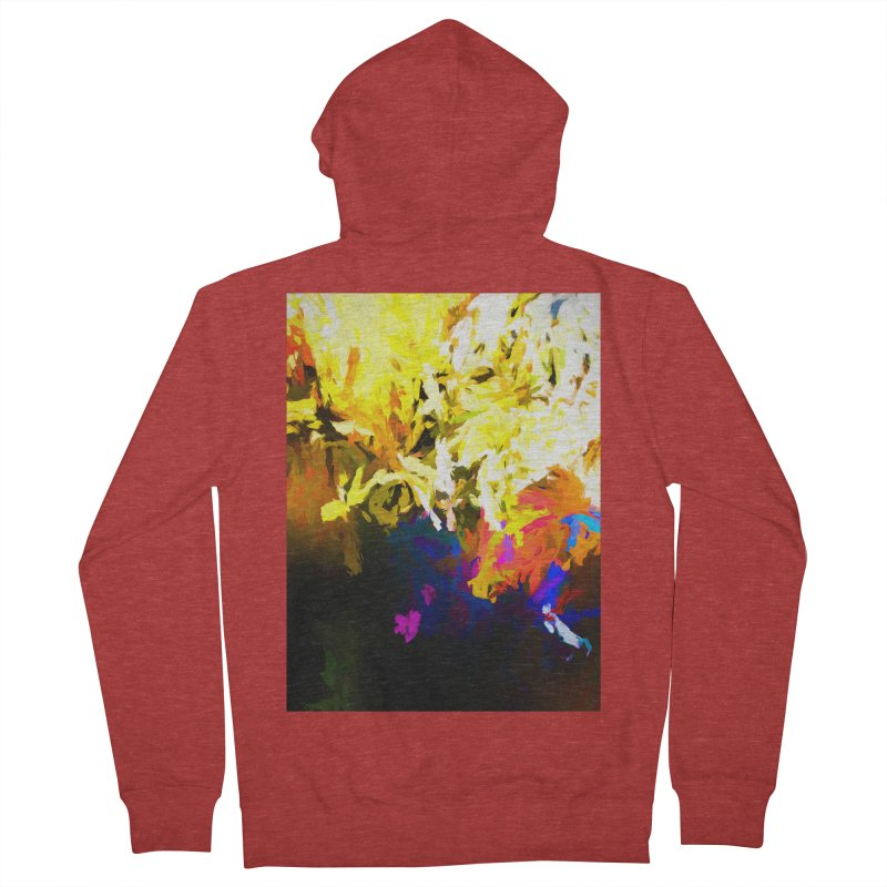 Raging Gargoyle of the Fire Women's French Terry Zip-Up Hoody by jackievano's Artist Shop
