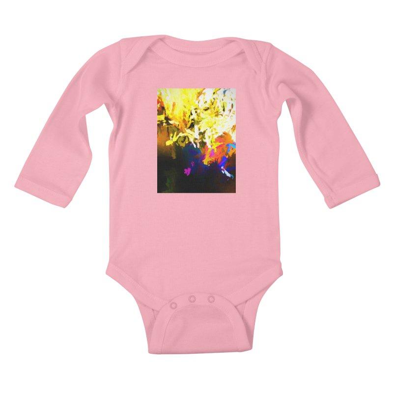 Raging Gargoyle of the Fire Kids Baby Longsleeve Bodysuit by jackievano's Artist Shop