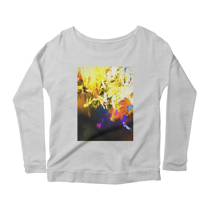 Raging Gargoyle of the Fire Women's Scoop Neck Longsleeve T-Shirt by jackievano's Artist Shop