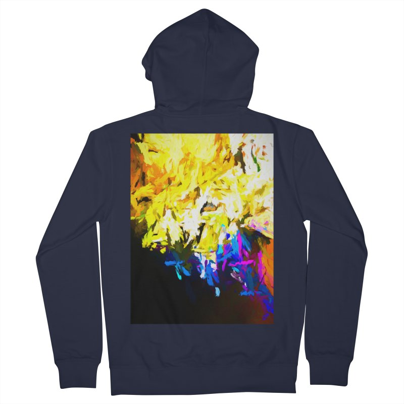 Smug Skull Watching Men's French Terry Zip-Up Hoody by jackievano's Artist Shop