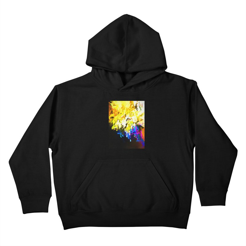 Smug Skull Watching Kids Pullover Hoody by jackievano's Artist Shop