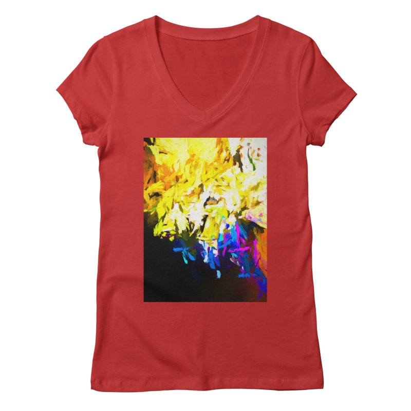 Smug Skull Watching Women's Regular V-Neck by jackievano's Artist Shop