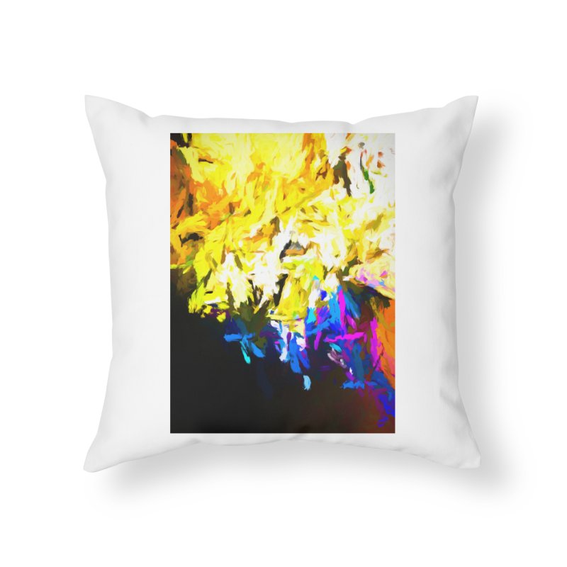 Smug Skull Watching Home Throw Pillow by jackievano's Artist Shop