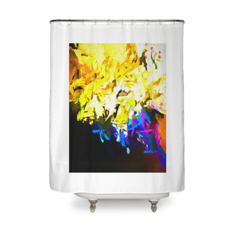 Smug Skull Watching Home Shower Curtain by jackievano's Artist Shop