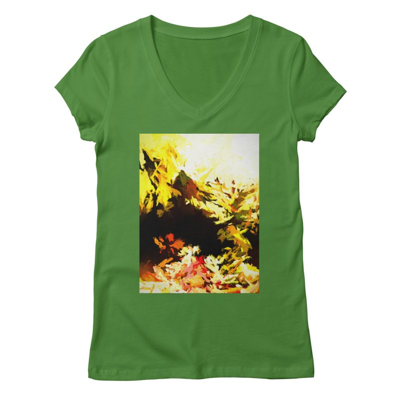 Weeping Woman by the Waterway Women's Regular V-Neck by jackievano's Artist Shop