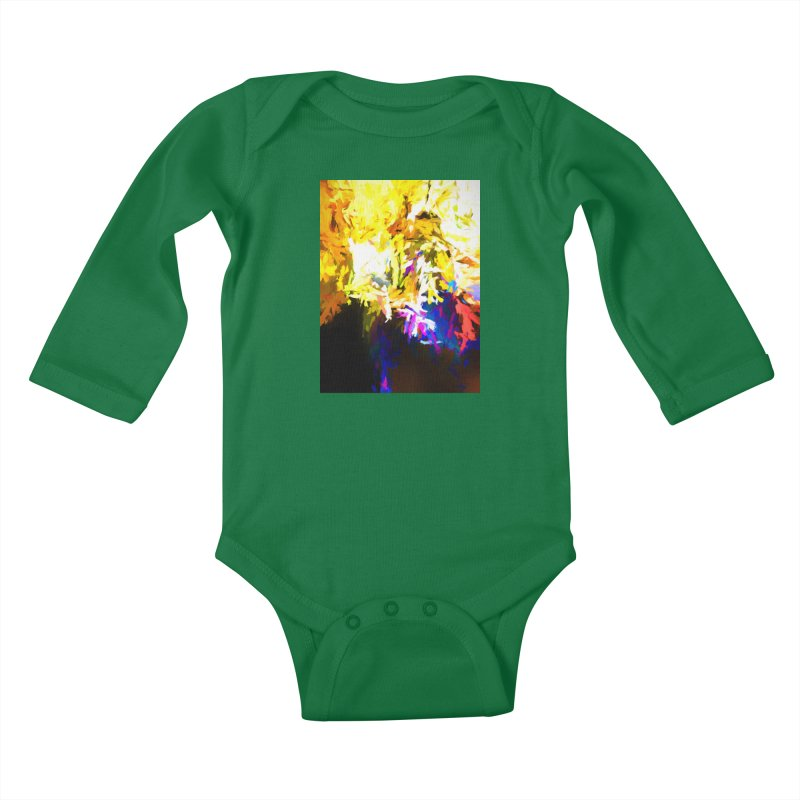 Stealth Attack of the Bird Monster Kids Baby Longsleeve Bodysuit by jackievano's Artist Shop