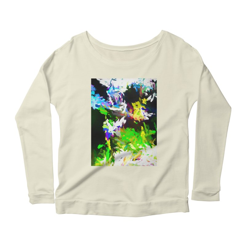Woman and the Ghost Women's Scoop Neck Longsleeve T-Shirt by jackievano's Artist Shop