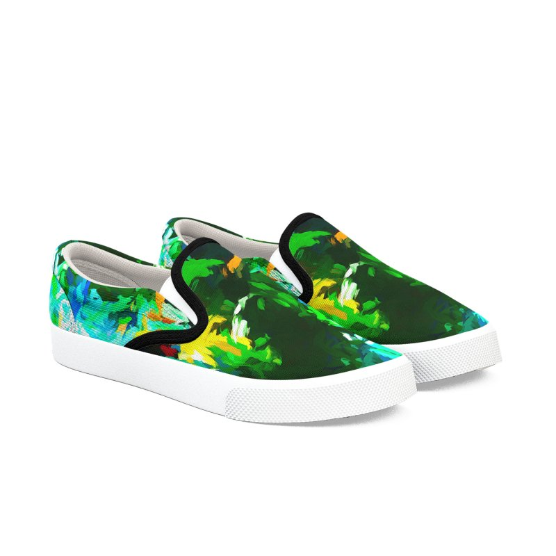 Abyss at the End of the Rainbow Men's Slip-On Shoes by jackievano's Artist Shop