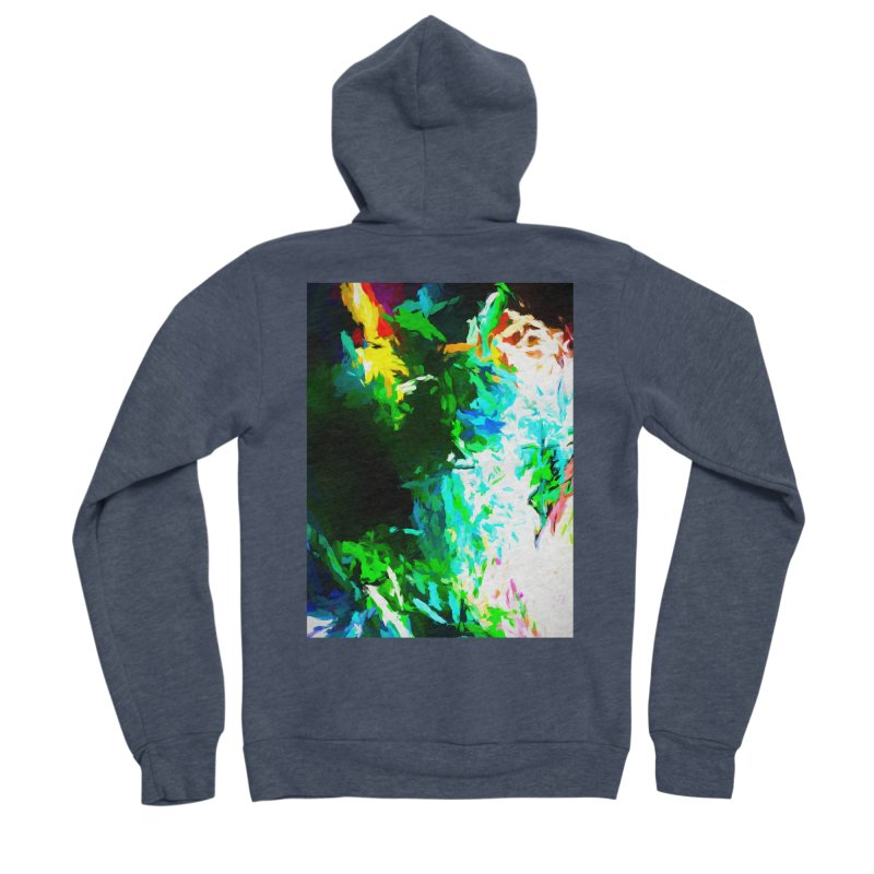 Abyss at the End of the Rainbow Women's Sponge Fleece Zip-Up Hoody by jackievano's Artist Shop